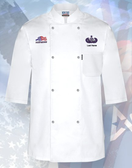 Air Force Food Service Skill Level Chef Coat Style# NC-1001AF